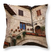 Country Charm Assisi Italy Throw Pillow