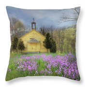Country Charm School Throw Pillow by Lori Deiter