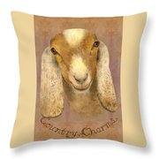 Country Charms Nubian Goat With Bright Eyes Throw Pillow