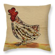 Country Chicken Throw Pillow