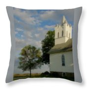 Country Chuch Throw Pillow