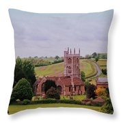 Country Church Wadsworth, England Throw Pillow