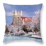 Country Club Christian Church Throw Pillow