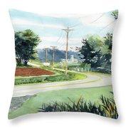 Country Corner Throw Pillow