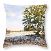Country Cotton Throw Pillow