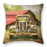 Country Cousins In The Smoky Mountains Throw Pillow