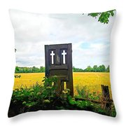 Country Crosses Throw Pillow