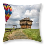 Country Cruising  Throw Pillow