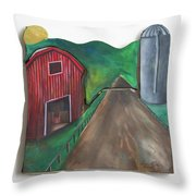 Country Day Throw Pillow