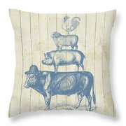 Country Farm Friends Throw Pillow