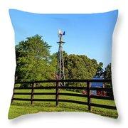Country Farm Scene Throw Pillow by Doug Camara