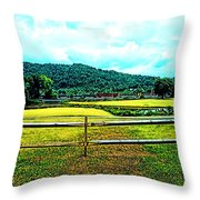 Country Field Throw Pillow