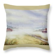 Country Fog Throw Pillow