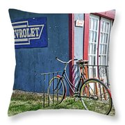 Country French Cafe Throw Pillow