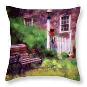 Country Garden Throw Pillow