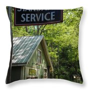 Country Gas Throw Pillow