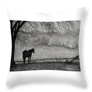 Country Horse Throw Pillow