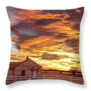 Country House Sunset Longmont Colorado Boulder County Throw Pillow