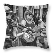 Country In The French Quarter 3 Bw Throw Pillow