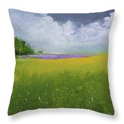 Country Landscape Throw Pillow