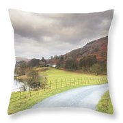 Country Lane In The Lakes Throw Pillow