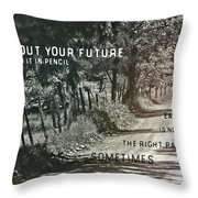 Country Lane Quote Throw Pillow