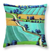 Country Lane Summer II Throw Pillow