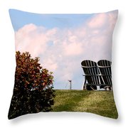 Country Life - Evening Relaxation Throw Pillow