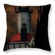 Country Lighthouse Throw Pillow