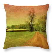 Country Living - Bayonet Farm Throw Pillow by Angie Tirado