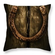 Country Luck Throw Pillow