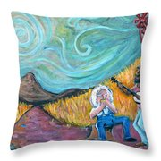 Country Music Throw Pillow