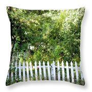 Country Picket Fence Throw Pillow