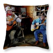 Country Pickin Throw Pillow