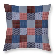 Country Quilt Throw Pillow