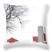 Country Red And White  Throw Pillow