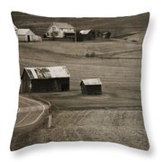 Country Road Holmes County Ohio Throw Pillow