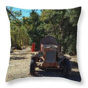 Country Road In California  Throw Pillow