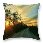 Country Road Please Take Me Home Throw Pillow