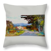Country Road - Tuscany Throw Pillow