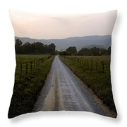 Country Roads Take Me Home Throw Pillow