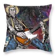 Country Rock Guitar Throw Pillow