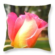Country Rose Throw Pillow