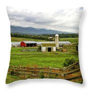 Country Scenic In West Virginia Throw Pillow