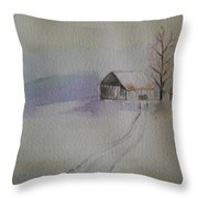 Country Snow Throw Pillow