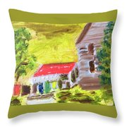 Country Squier  Throw Pillow