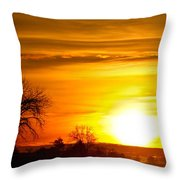 Country Sunrise 1-27-11 Throw Pillow