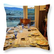 Country Table Setting Throw Pillow