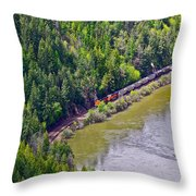 Country Train Throw Pillow