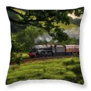 Country Train Ride Throw Pillow